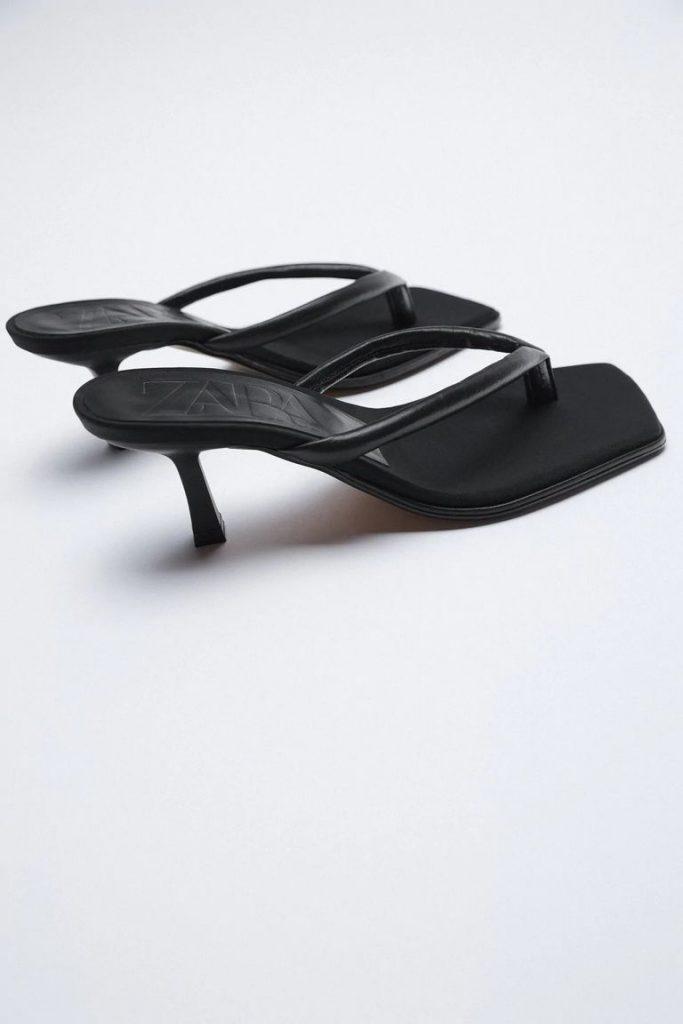 Sandalias de piel Zara.