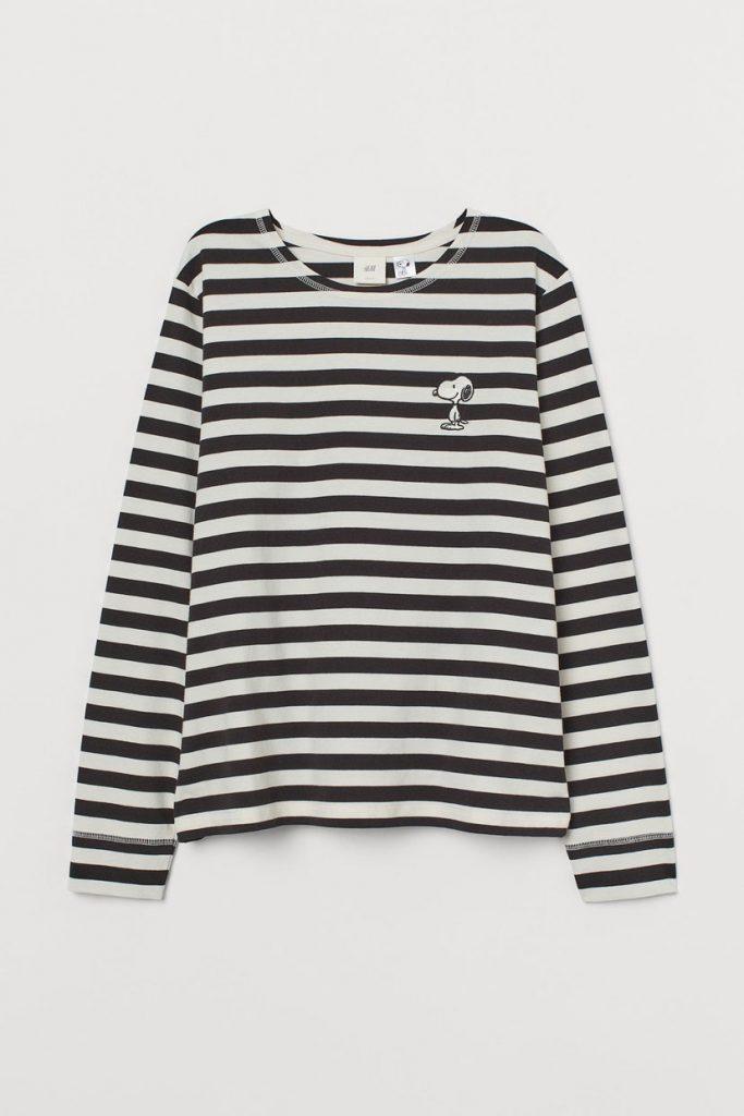 Camiseta con detalle bordado h&m