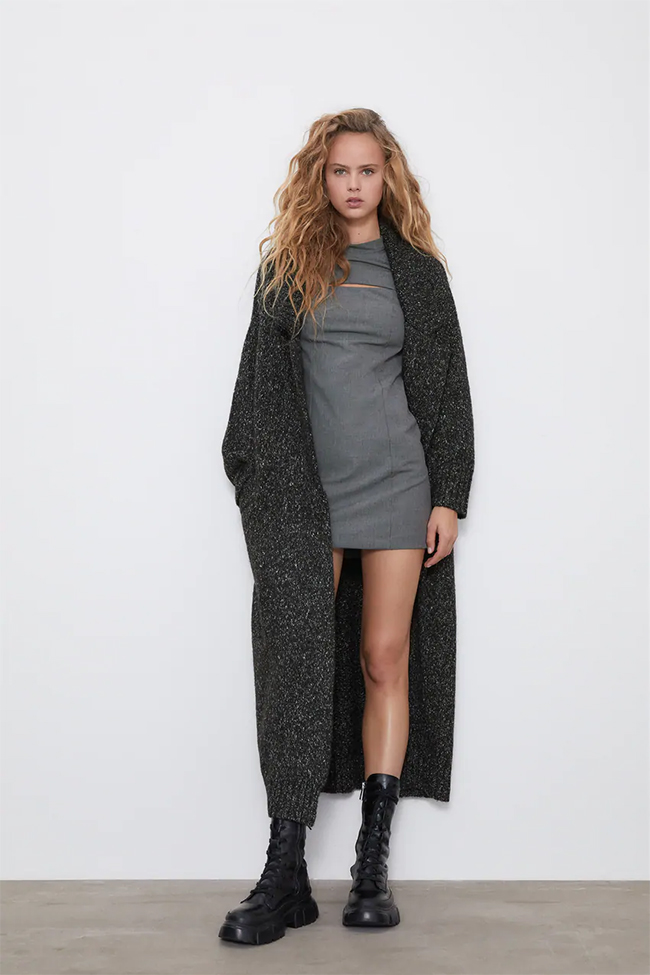 Vestido cut-out de Zara.