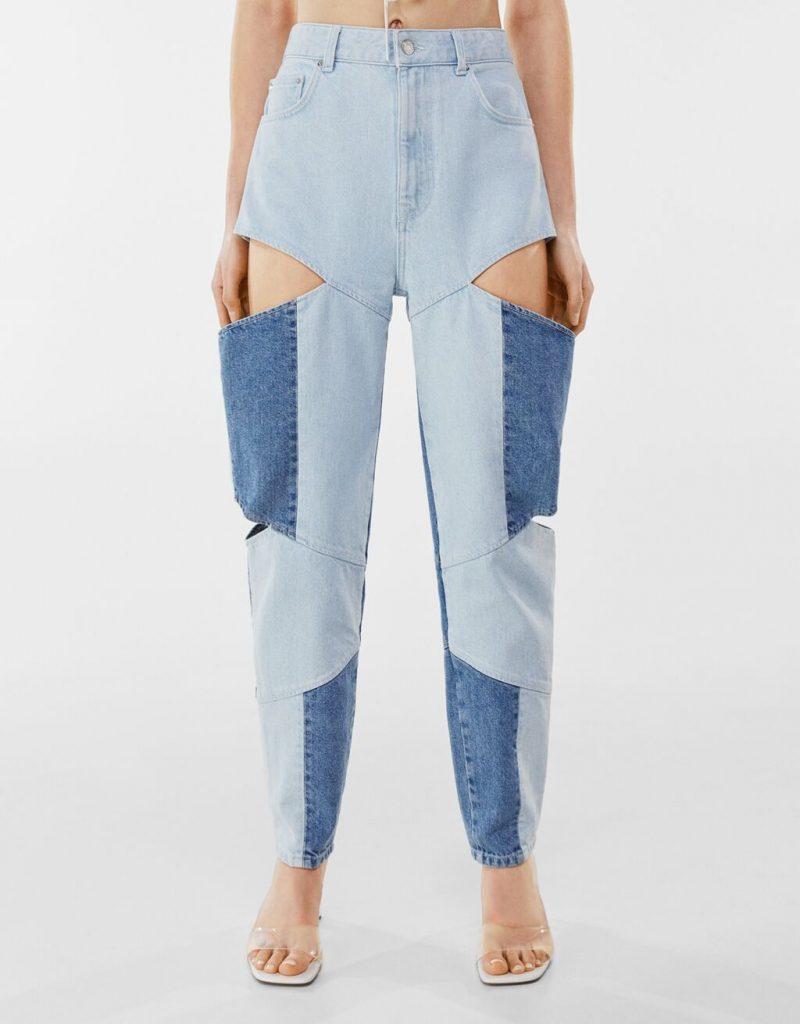 Jeans patchwork cut out