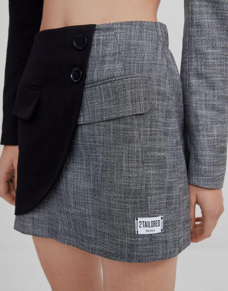 falda patchwork mini