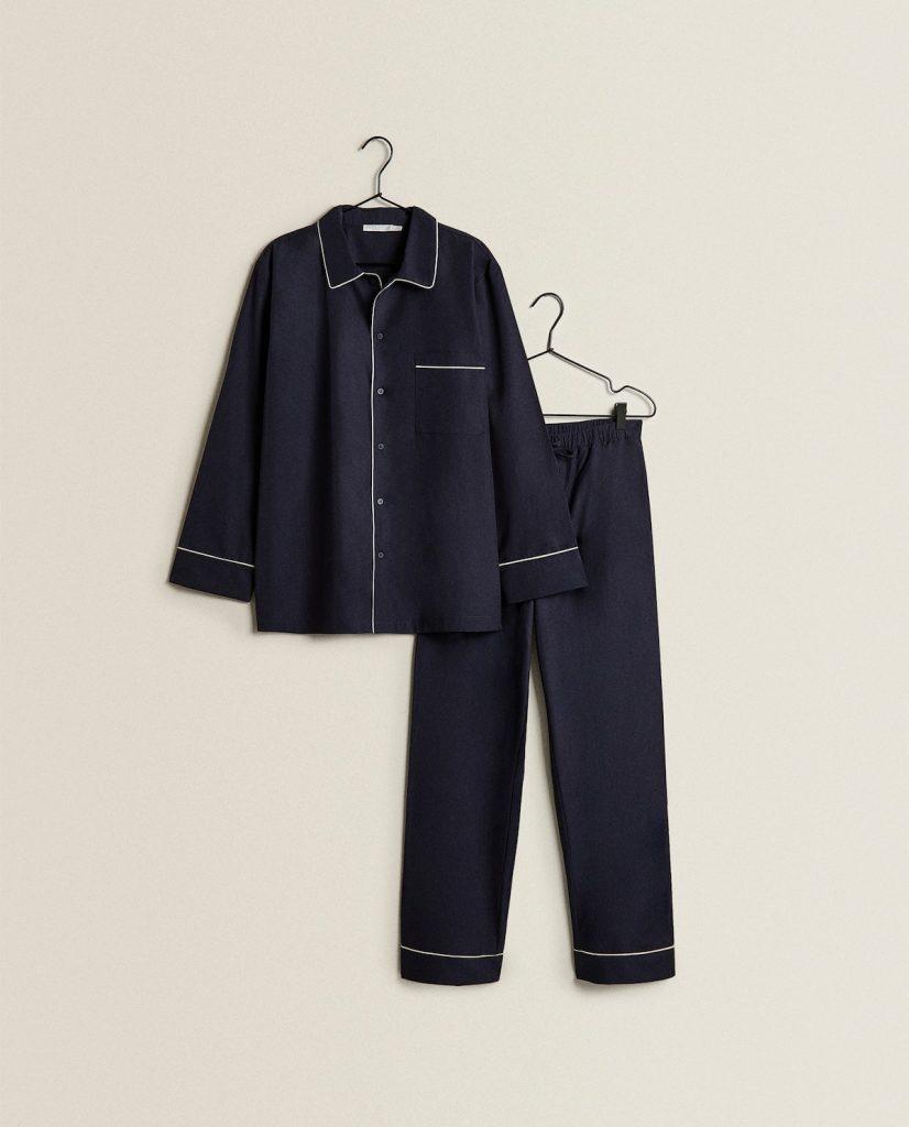 Pijama personalizable en azul Zara