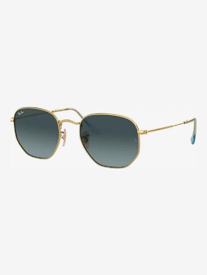 Gafas de sol 'HEXAGONAL' en azul/oro