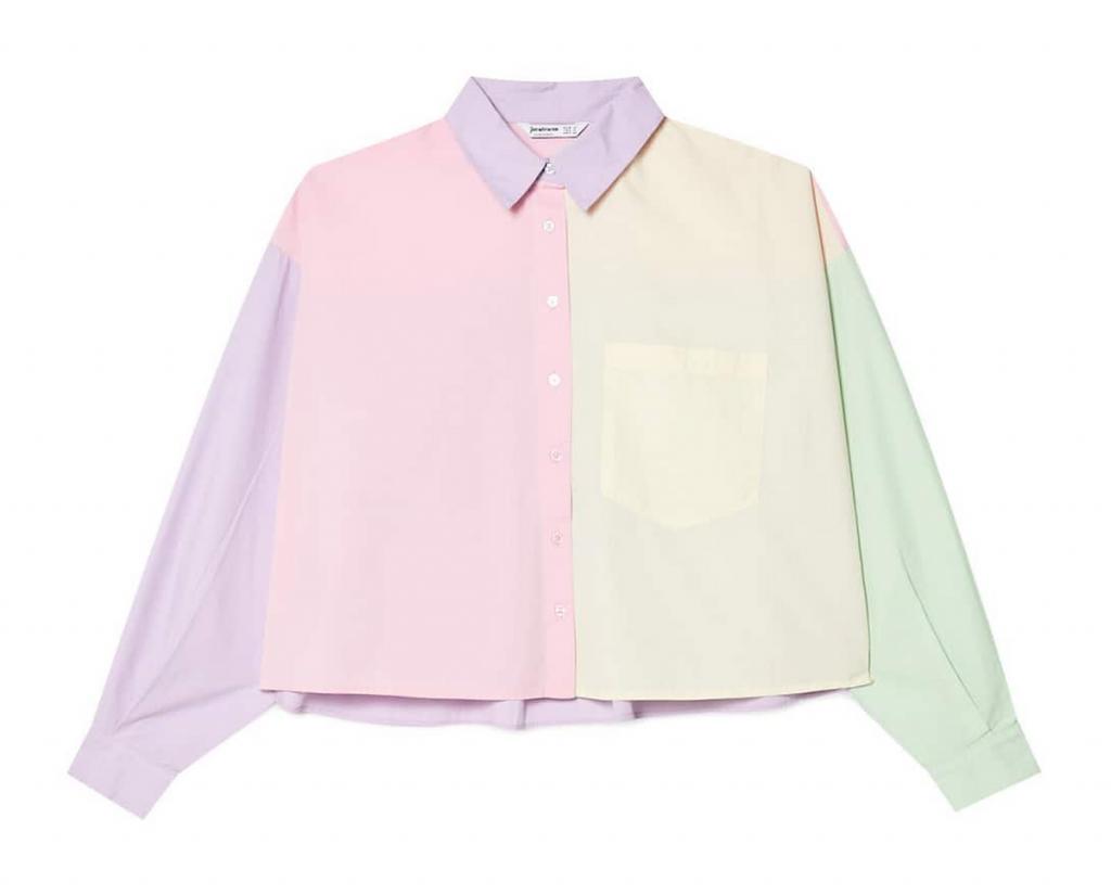 Camisa popelín multicolor
