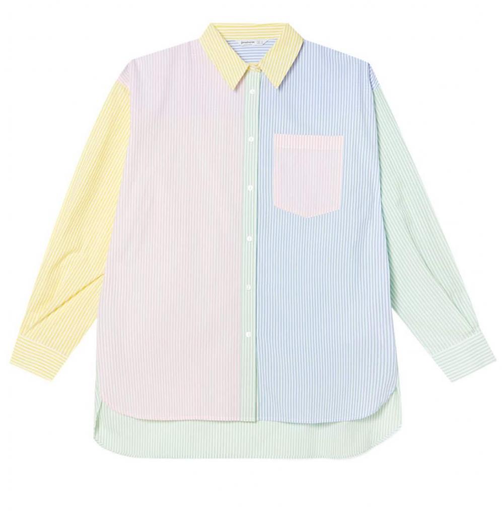 Camisa popelín multicolor de rayas