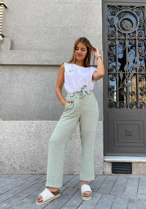 Pantalón de rayas para Mujer Natalia Osona para TEX