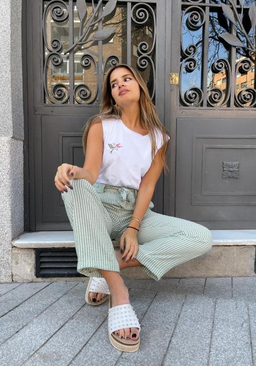 Camiseta con hombreras de Mujer Natalia Osona para TEX