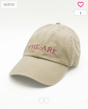 GORRA THE-ARE BEIGE WASEHD