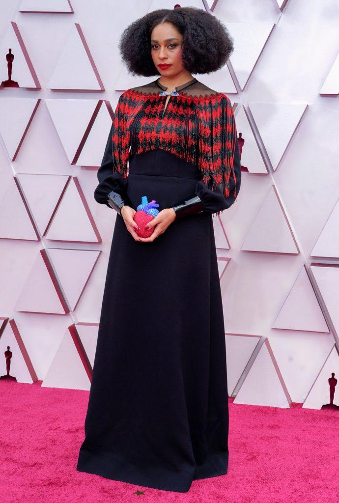 Celeste Waite alfombra roja Oscar 2021