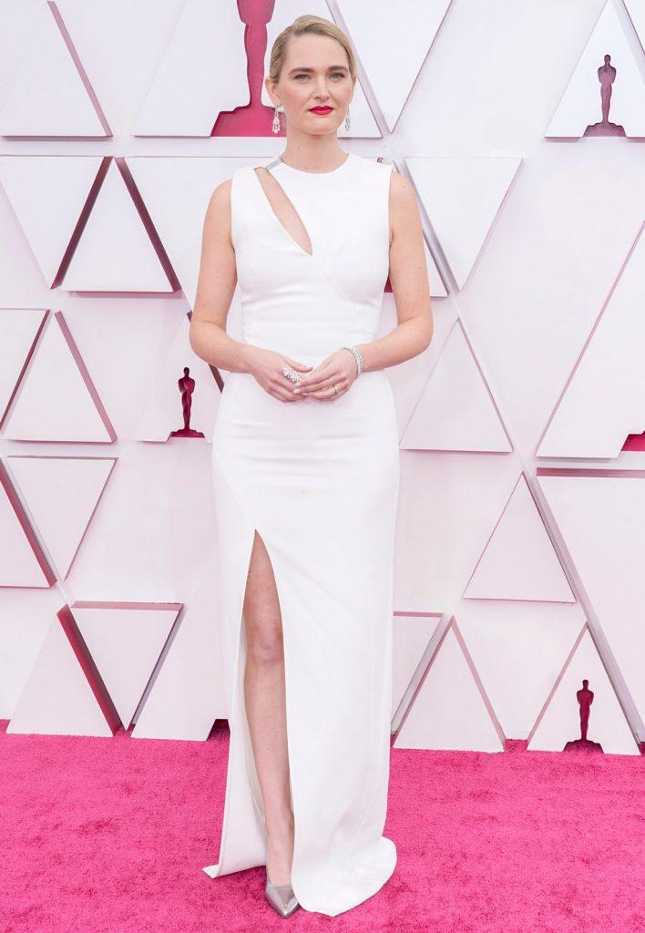 Jena Friedman alfombra roja Oscar 2021