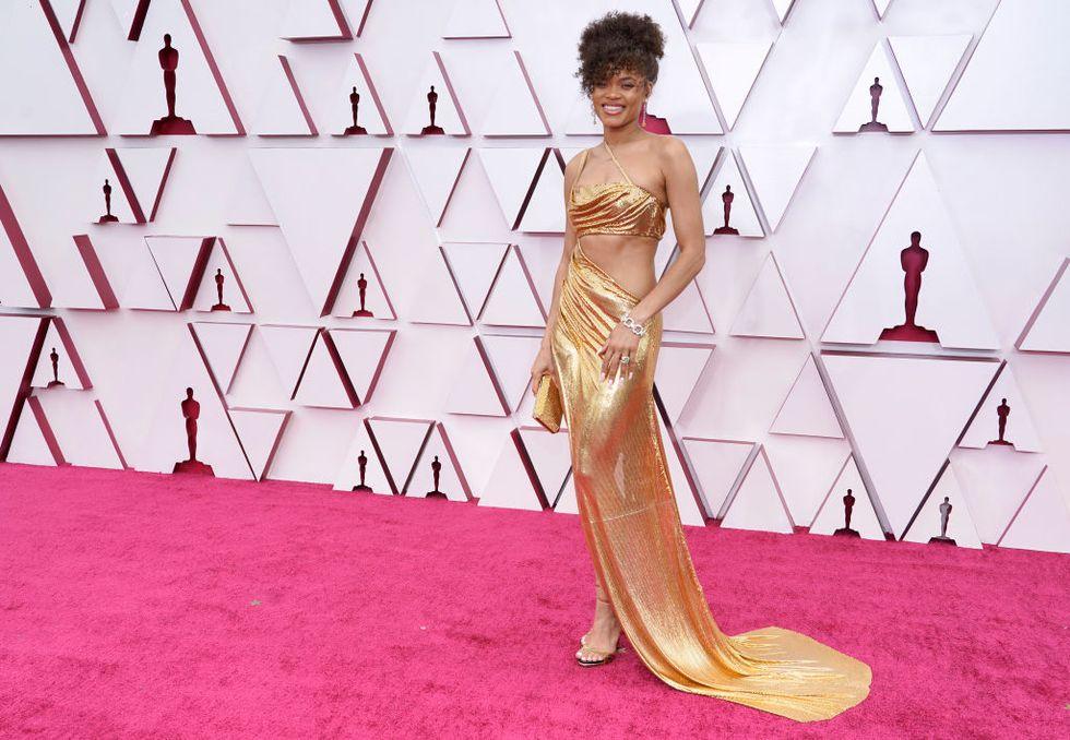 Andra Day alfombra roja Oscar 2021