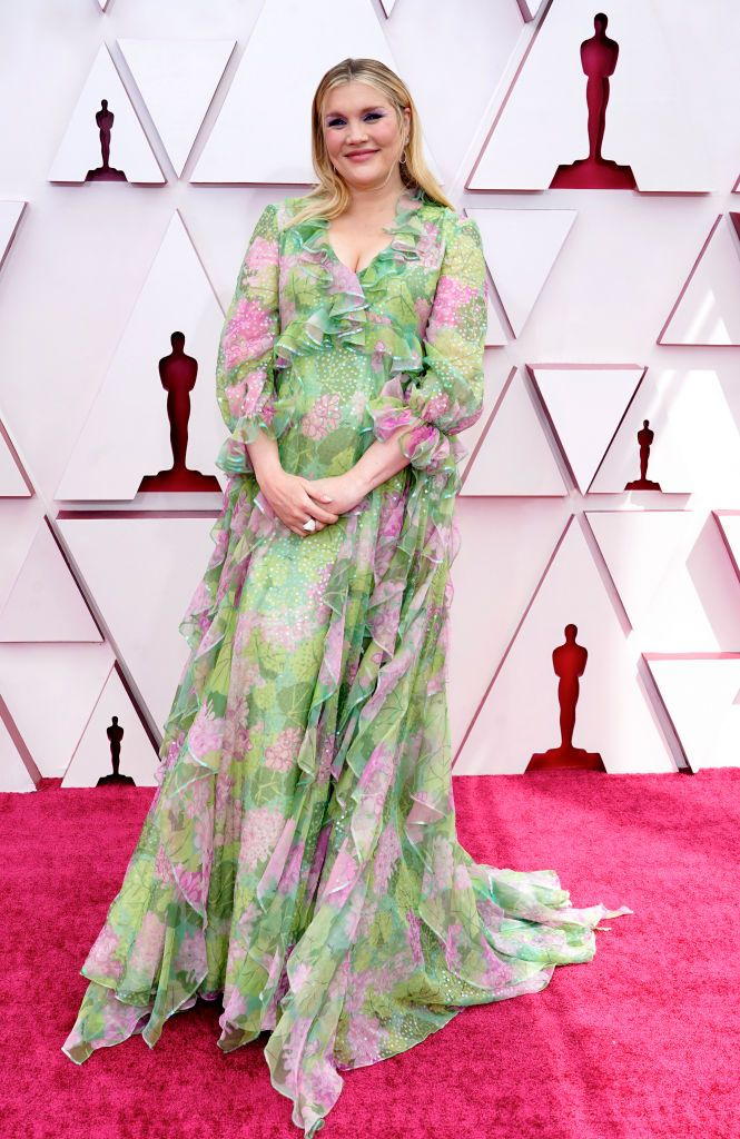 Emerald Fennell alfombra roja Oscar 2021