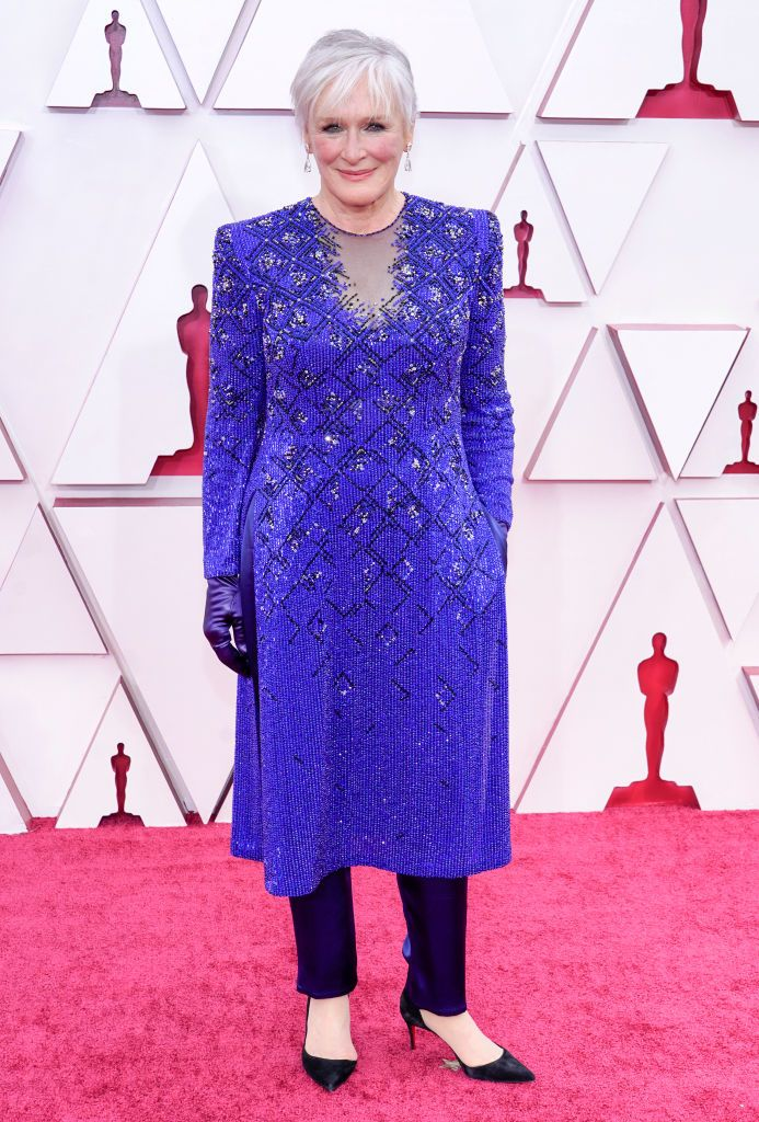 Glenn Close alfombra roja Oscar 2021