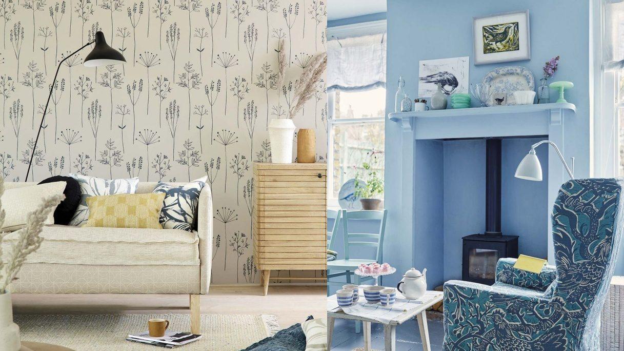 ¿Cómo decorar el salón con papel pintado y pintura?