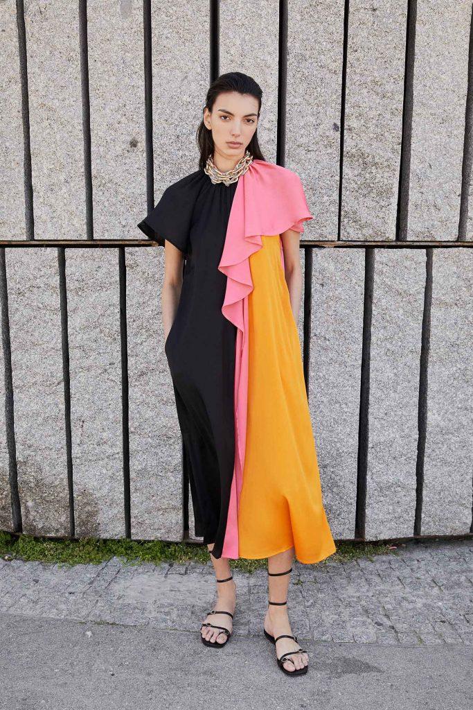 Vestido color block Sfera