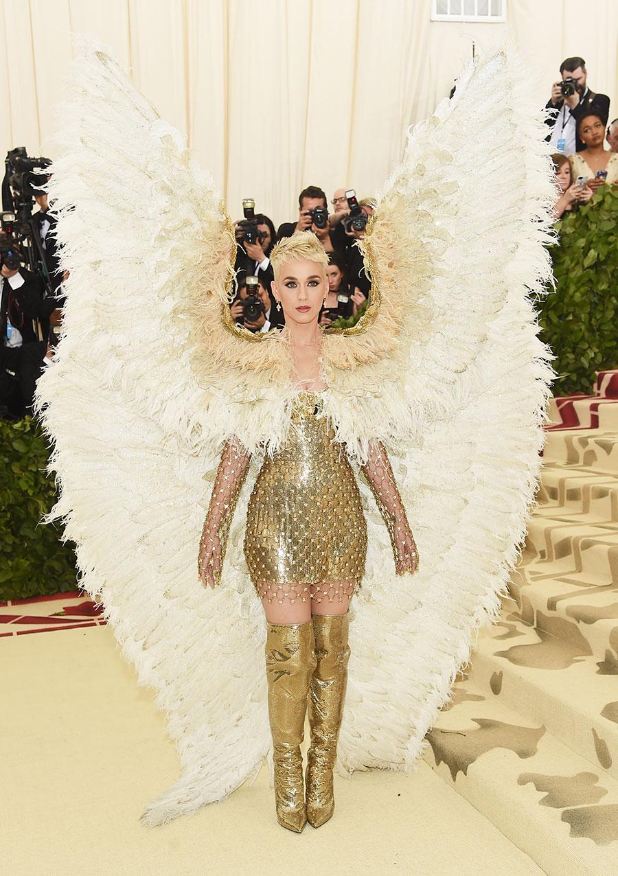 Katy Perry en la Met gala de 2018